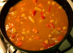 Vege-and-bean-curry
